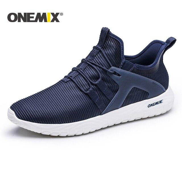 Onemix 2018 Новые легкие кроссовки для бега воздухопроницаемые кроссовки для мужчин кроссовки для прогулок на открытом воздухе обувь для походов спортивные кроссовки