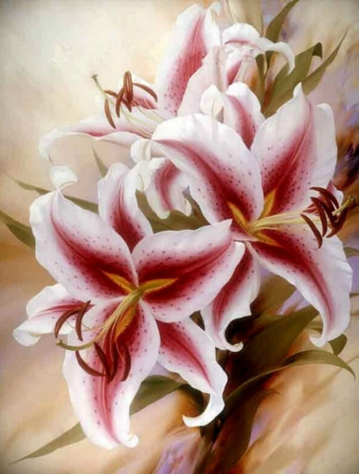 Картинка лилии для декупажа