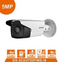 Международная версия Камеры Скрытого видеонаблюдения DS 2CD2T55FWD I8 5MP WDR Пуля IP Камера ИК 80 м IP 66 заменить DS 2CD2T52 I5