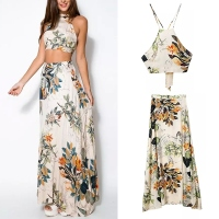 Womens-Dress-Set-Crop-Tops-BodyconLong-Maxi-Skirt-1