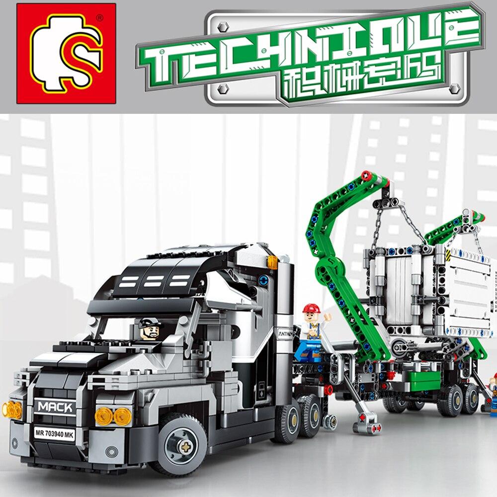 Sembo blocs Technic série Mack hymne camion legoing 42078 briques de construction modèle minifigureso éducatif bricolage anniversaires cadeau