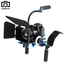 4in1 DSLR Rig Set Movie Kit Filming System Handheld Shoulder Mount Follow Focus Matte Box for Canon Nikon Camera Video Camcorder