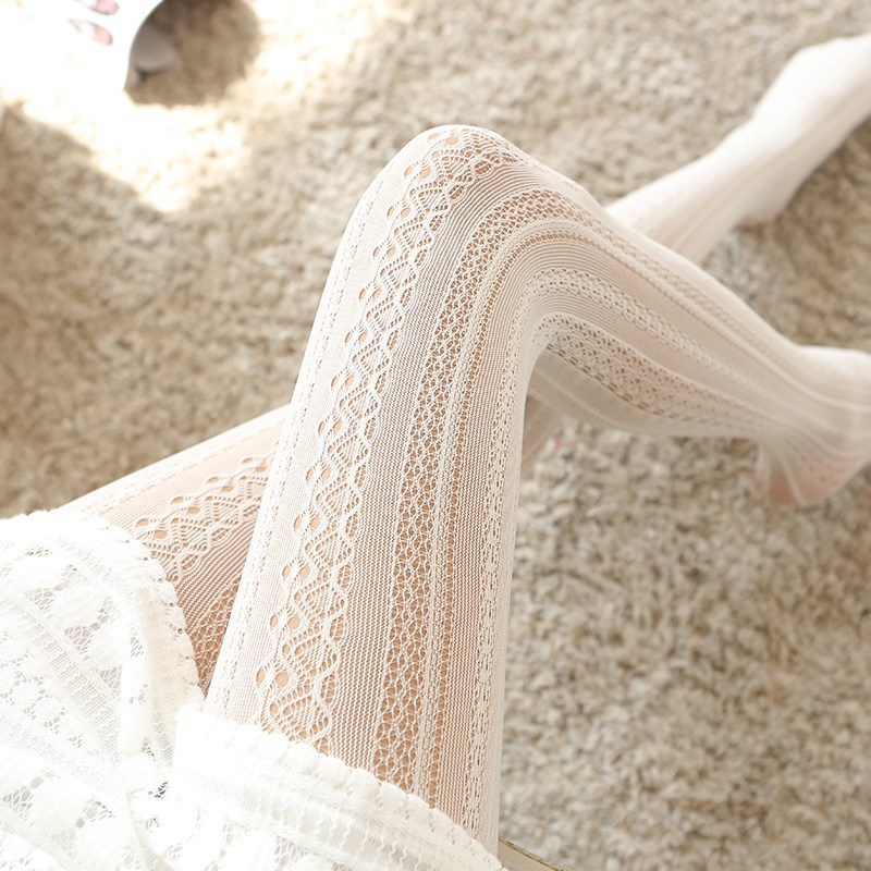 Sexy Lace lace Stockings Pantyhose with print Looks thin Carved Net stocking Hollow 2019 NEW Women Tights Lolita Nylons lady