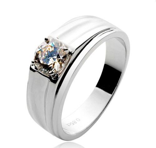 top quality 1ct synthetic diamonds mens jewelry 925 silver wedding bands men ring lovers promise ring