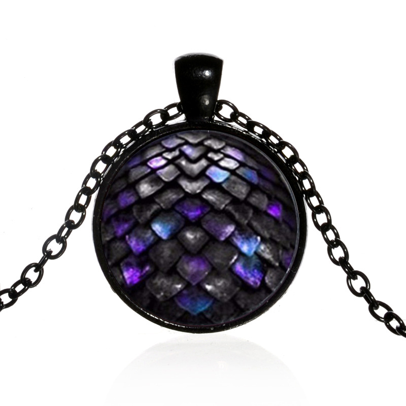 Pendant Necklaces Honey Glass Dome Game Pendants&necklaces Game Of Thrones Dragon Colorful Dragon Egg Necklace For Women And Men Gifts Jewelry Xl153 Pure White And Translucent