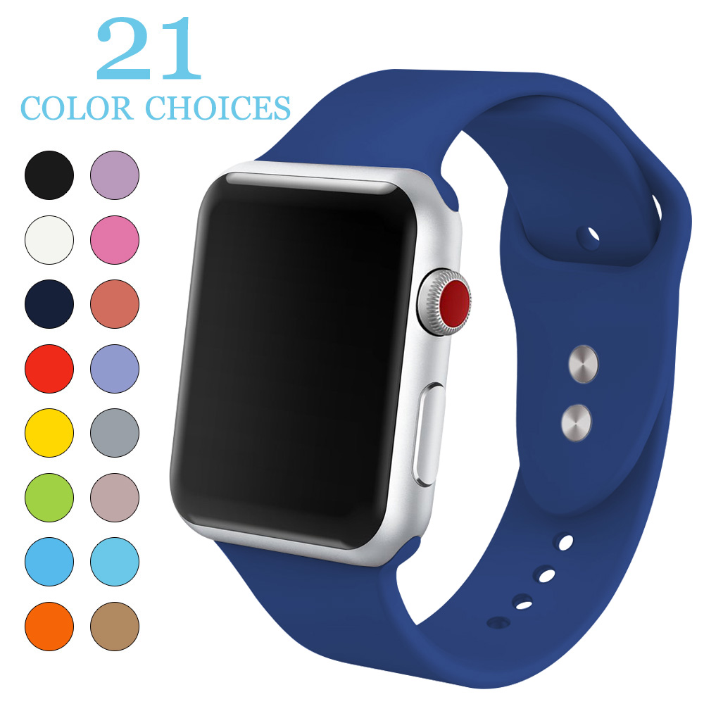 MU SEN Soft Silicone Replacement Sport Band For 38mm Apple Watch Series1 2 42mm Wrist Bracelet Strap For iWatch Sports Edition mu sen sport silicone band strap for apple watch nike 42mm 38mm bracelet wrist band watch watchband for iwatch apple strap 3 2 1