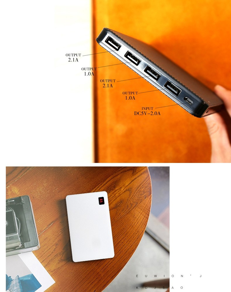Remax Portable Power Bank 30000mAh External Battery Charger 4 USB Fast Charging For iPhone 7 8 Plus X Samsung Xiaomi Powerbank