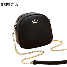 REPRCLA New Brand Designer Women Messenger Bags Chain Strap Shoulder Bag High Quality Handbags PU Leather Crossbody With Crown