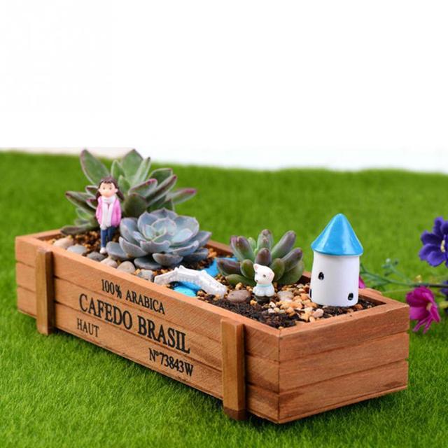 New Wood Flowerpot Planter Box Garden Yard Rectangle Flower Succulent  Container Plant Pot