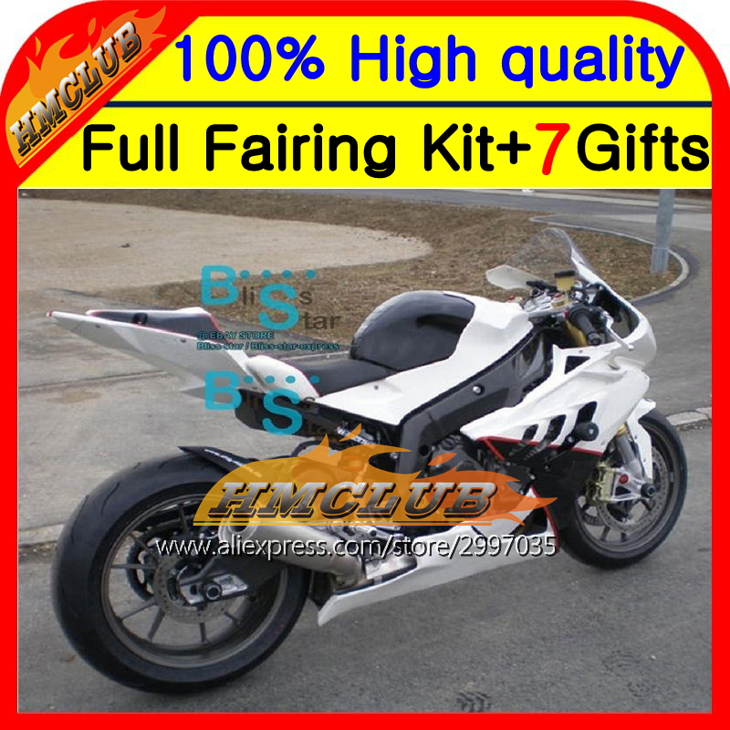 BodyWhite red For BMW S1000R 09-14 S 1000R S1000RR 2HM93 S 1000 RR 09 10 11 12 13 14 S 1000RR S1000 RR Gloss white Fairing image