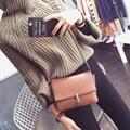 Nuevo 2016 Clain Moda Bloqueo de CrossBody Del Monedero Del Bolso de Las Mujeres Bolsos de hombro Simple bolso Pequeño Mensajero de Las Mujeres Bolsos Bolsas Mujer A651B