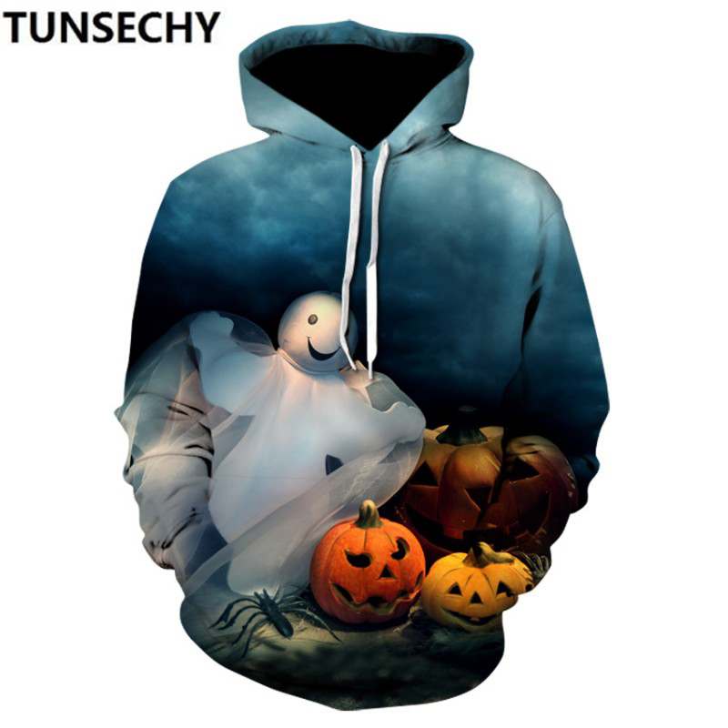New Halloween3D printed hoodies for men and women in 2018 retail and wholesale