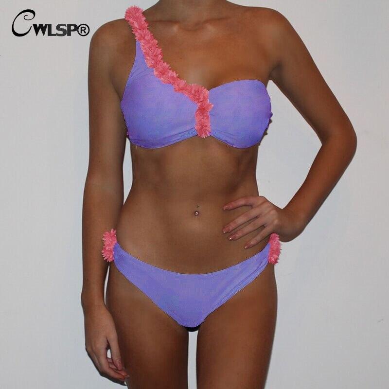 CWLSP2018 Sexy Sommer 2 Stück Set trägerlosen Mit Floral Crop Top mit Slip Für Frauen Stellen Sie Ein bikini Für Urlaub QZ2860