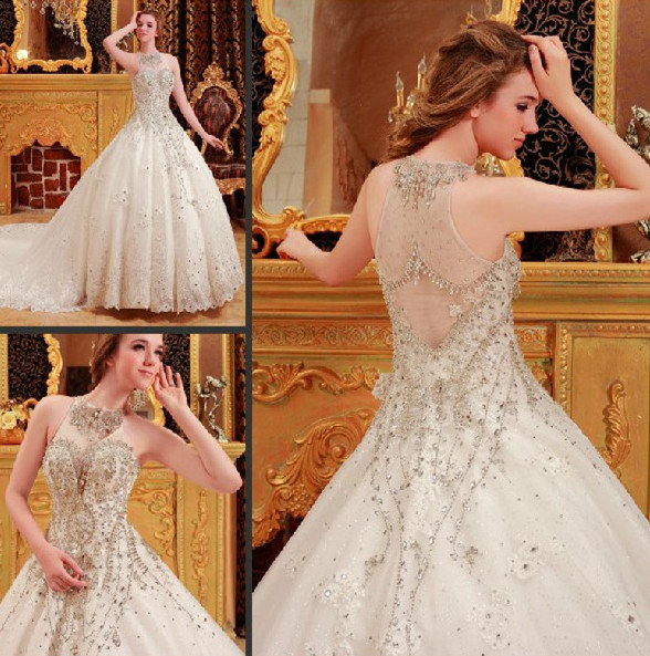 Samples Of Wedding Gowns: Trouwjurk Ball Gown Sweetheart Court Train Luxury Real