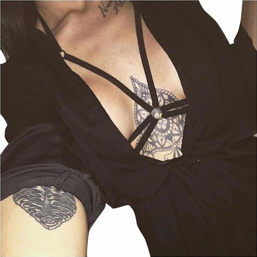Seksi mayo kadınlar çekici demeti bandaj elastik Strappy Hollow Out maillot bain büstiyer bandaj plaj mayo