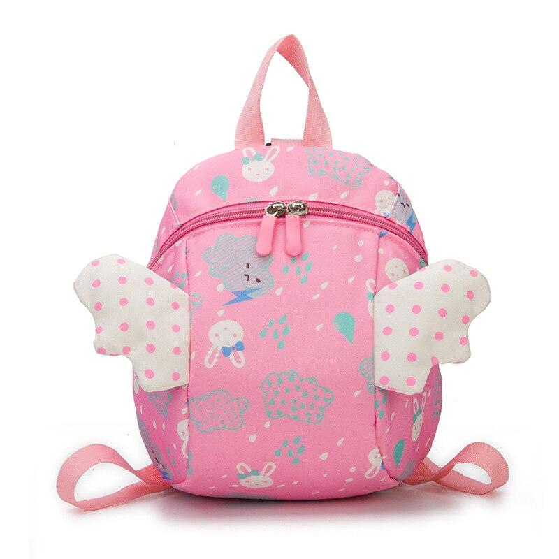 2019 New 3D Anti Lost School Bags Leash Kids Bag Angel Wing Cartoon Backpack For Girls Lovely Kids Backpack Boys Mochila Escolar