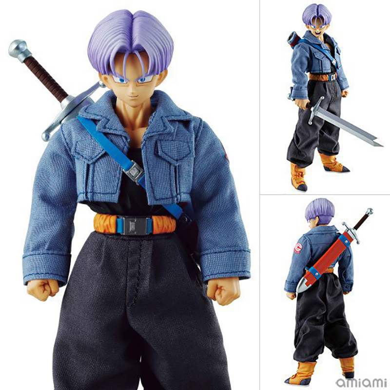 Dragon Ball Trunks Action Figure Real Clothes Ver. Trunks Doll PVC Action Figure Collectible Model Toy 19cm KT3534 1 6 scale figure doll jurney to the west monkey king with 2 heads 12 action figures doll collectible figure model toy gift