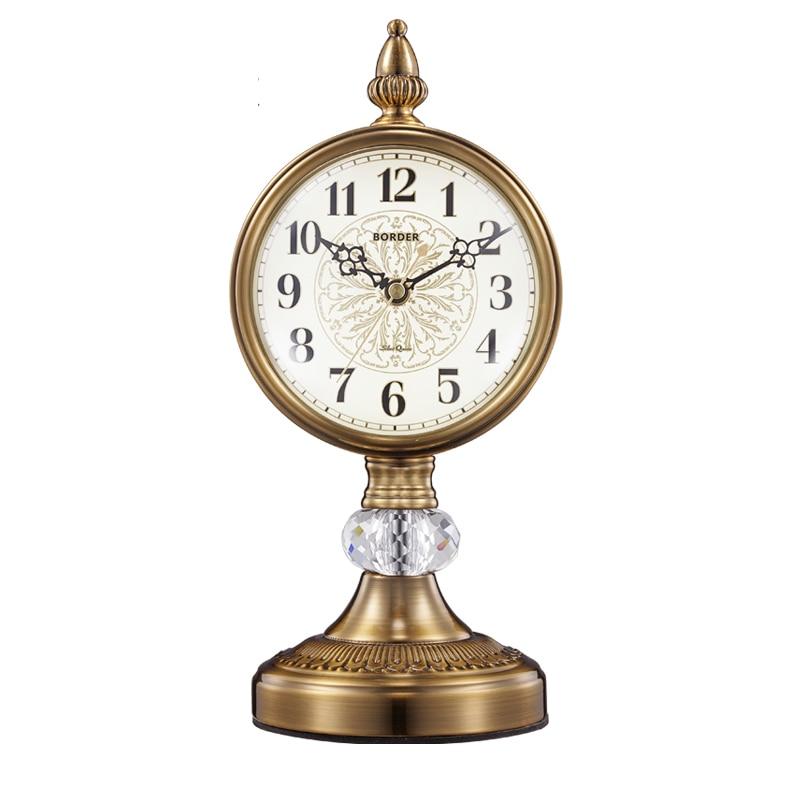 European watch decoration clock seat living room large desktop retro desk clocks American mute pendulum desktop