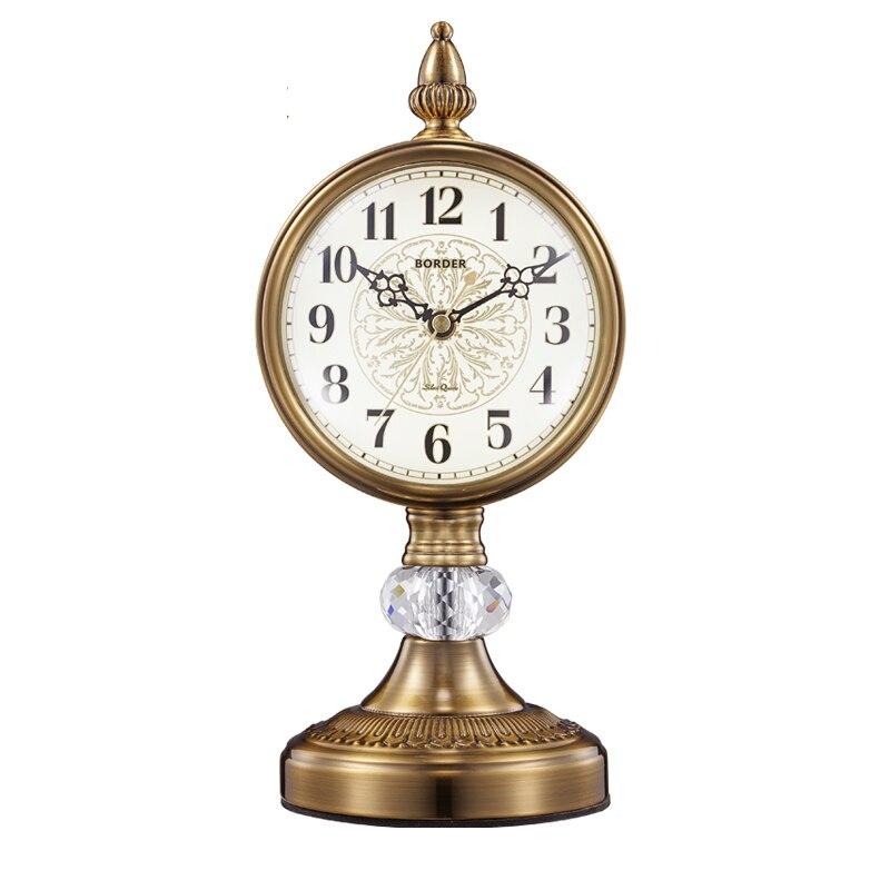 Montre européenne décoration horloge siège salon grand bureau rétro bureau horloges américain muet pendule bureau
