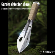 Metal Detector Garden Digging Tool Digger Detecting Shovel with Sheath Stainless Steel