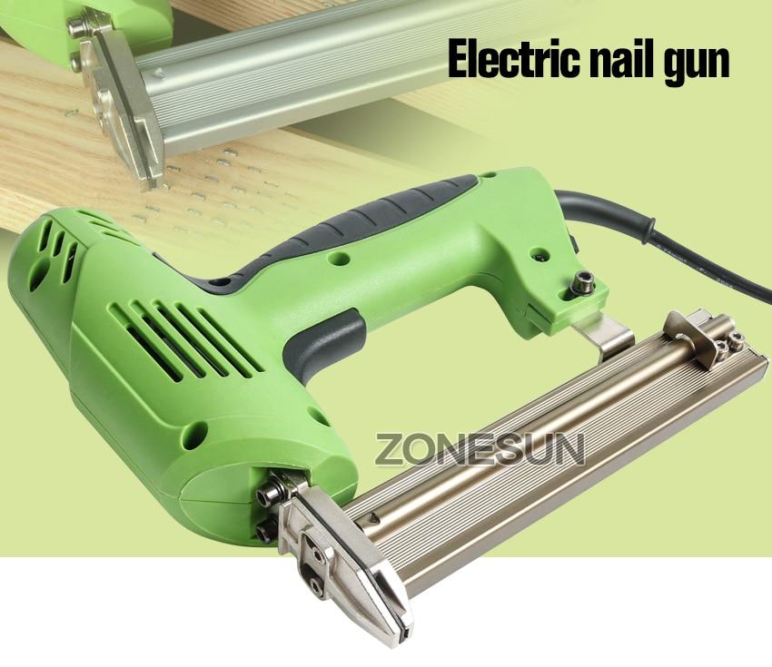 ZONESUN 2 en 1 encuadre Tacker eléctrica uñas pistola de grapas 220 ...