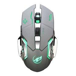 Warwolf Q8 ładowanie bezprzewodowe mysz do gier z 6 przyciskami odbiornik USB podświetlenie fajna mysz ergonomiczna dla graczy