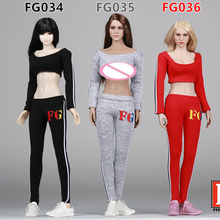 Scale 1/6 Dresses Fire Girl Toys FG034/FG035/FG036 Female Sportswear Apparel for 1/6th 12 Inch Doll Toys Action Figure Model цена