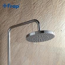 Chuveiro moderno sem chuva, frap 20*20cm aço inoxidável abs banheiro cabeça 8 polegadas chuveiro chuva chuva acabamento cromado do chuveiro