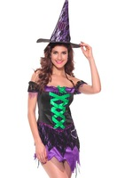 Halloween Witch Costumes For Women Christmas Carnival Costume Fantasia Adult Fairy Costume Vampire Cosplay Party Dress