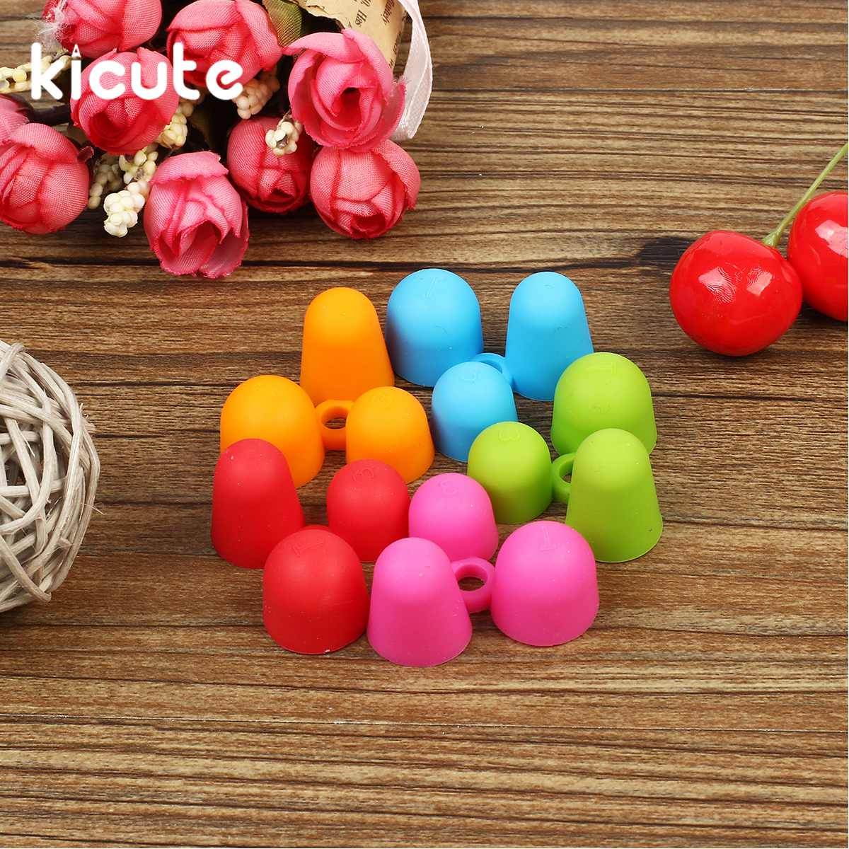 Kicute 5pcs/lot Pencil Grips Occupational Therapy Handwriting Aid Children School Stationery Pen Control Right Silicone Writing