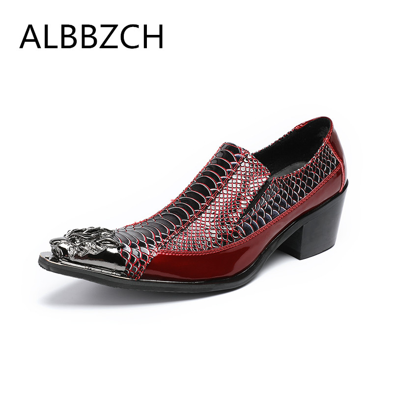 Mens luxury embssed patent leather wedding dress shoes men high heels luxury metal pointedt toe design career work shoes size 46Mens luxury embssed patent leather wedding dress shoes men high heels luxury metal pointedt toe design career work shoes size 46