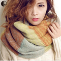 2016 Winter Scarf Luxury Brand New Women's Fashion Casual Warm Length 60-80 cm Ring Scarves 5 Style Free Shipping  AM058