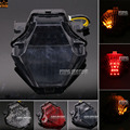 Para yamaha yzf r25/r3 yzf-r25 yzf-r3 mt-25 mt-03 accesorios de la motocicleta integrado led luz trasera lámpara de señal de vuelta blinker humo