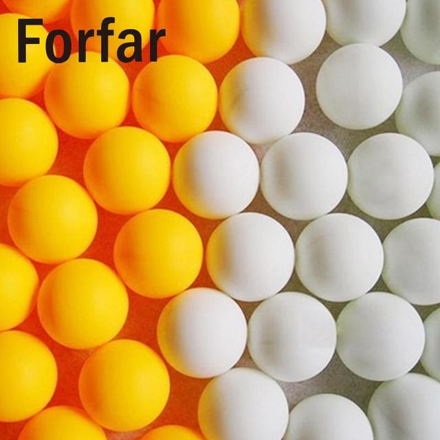 Forfar 150Pcs 38mm White Beer Pong Balls Ping Pong Balls Washable Drinking White Practice Table Tennis Ball