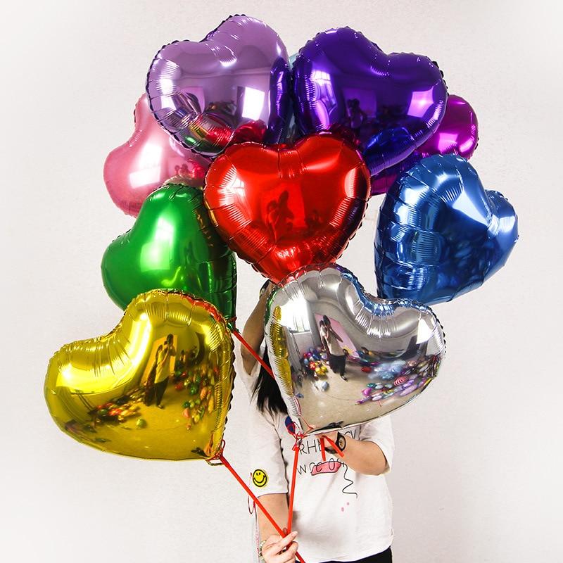 5 pcs 5 polegada Estrela e coração Balões de Hélio Inflável Balão de Aniversário de Casamento Dia de Natal Valentine & #39 s party Decor ar bal