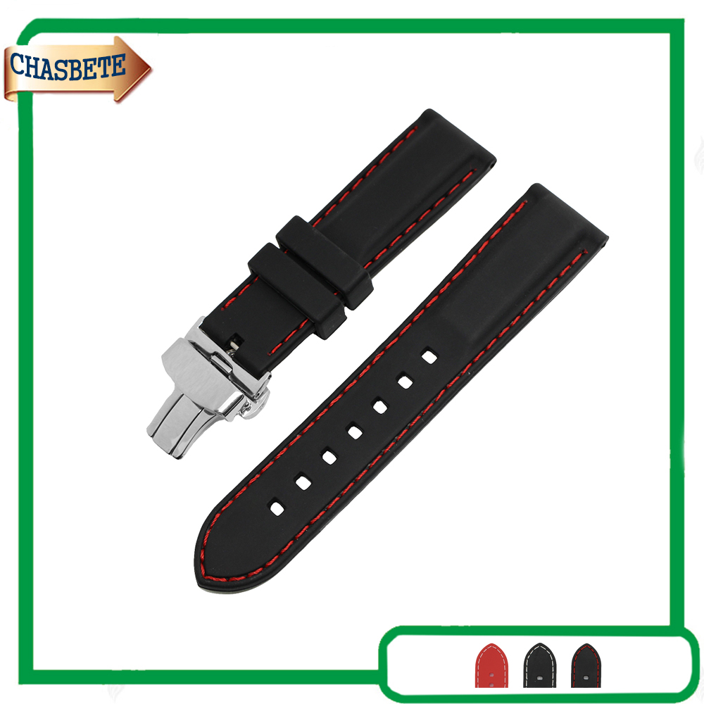 Silicone Rubber Watch Band for Seiko 18mm 20mm 22mm Men Women Belt Wrist Loop Resin Strap Bracelet Red Black + Spring Bar + Tool eache silicone watch band strap replacement watch band can fit for swatch 17mm 19mm men women