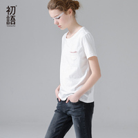 Toyouth 2017 Summer New Arrival Women Cotton Straight O Neck Short Sleeve Solid T Shirts All