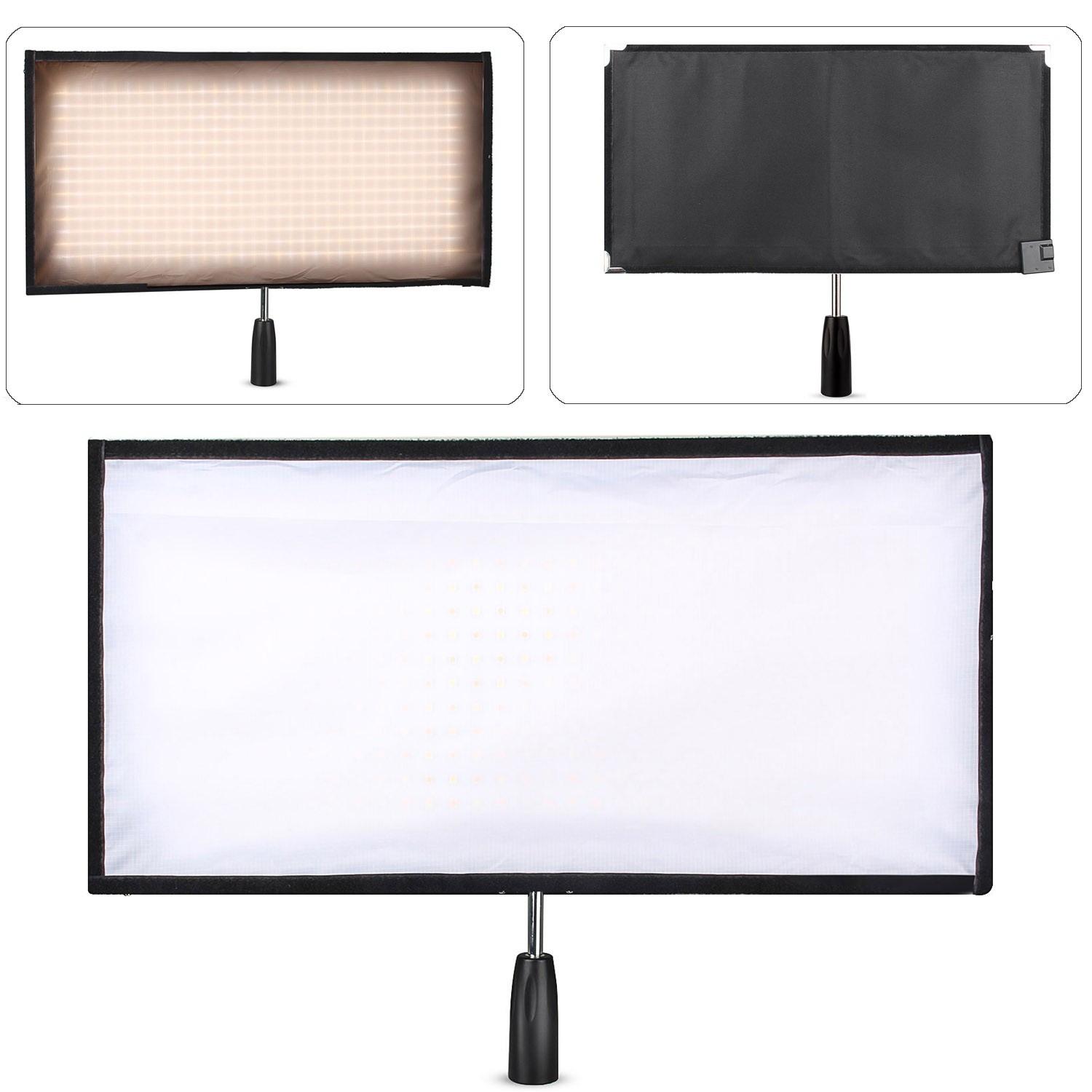 Travor Flexible LED Light Bi-Color Size 30*60CM Video Studio Photography Light With 2.4G Remote Control For Video Shooting travor flexible led video light fl 3060 size 30 60cm cri95 5500k with 2 4g remote control for video shooting