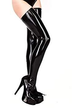 Free Shipping !!! Mould Sexy Tights Latex Stockings Rubber Long Stockings