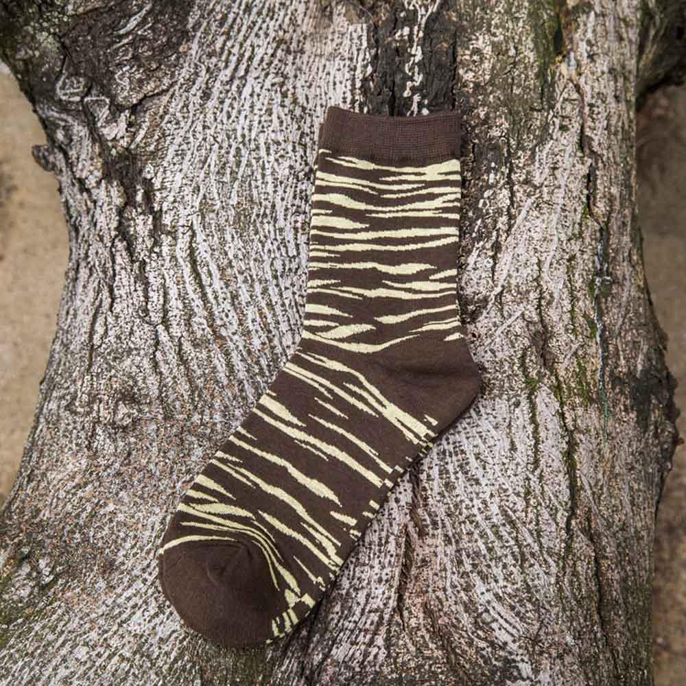 1 Pair Casual Comfortable Men Cotton Zebra Striped Socks Autumn Winter Warm Sock Breathable Short Sock