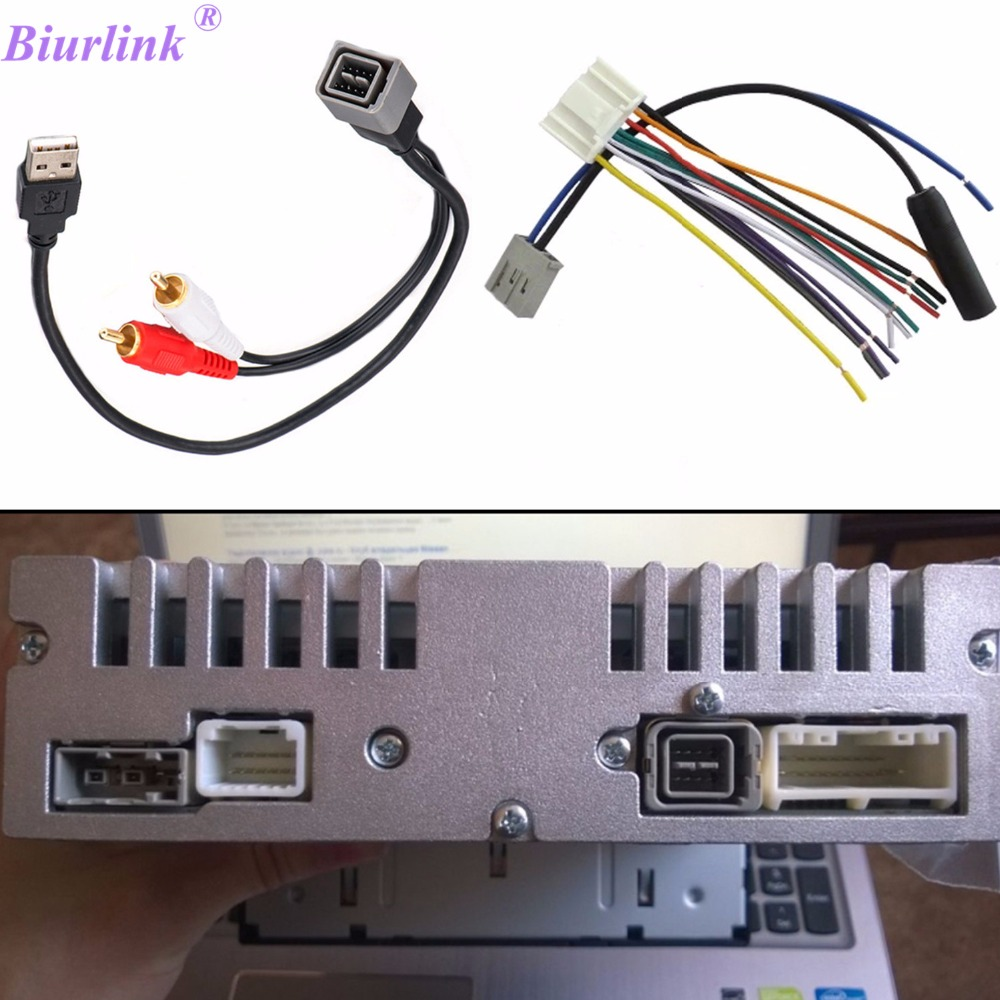 Biurlink Car Radio Antenna Cable Car Cd Changer Usb Port