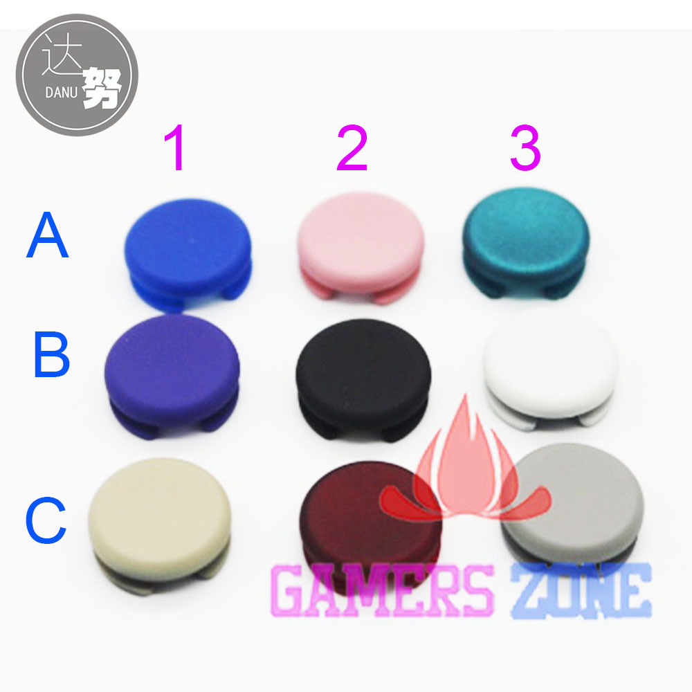 Colorful For 2012 & 2015 Verison Analog Controller Joystick Cap For New 3DS 3DS LL 3DS XL Analog Joysticks Cap cup & tumbler holders 2 ceramic cups antique brass toothbrush double cup holder wall bathroom accessories tumbler rack hj 1303f