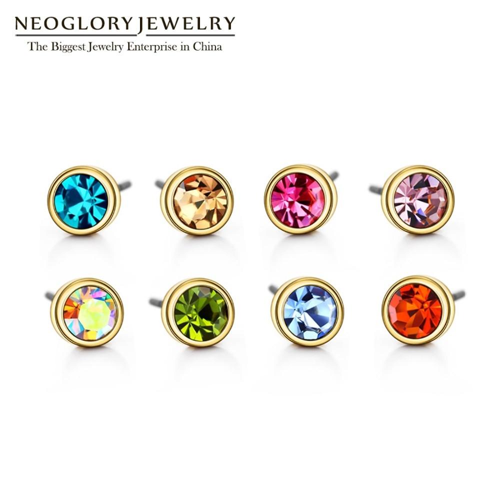 Neoglory Austria Berlian Imitasi Pesona Cahaya Warna Kuning Emas - Perhiasan fashion - Foto 2
