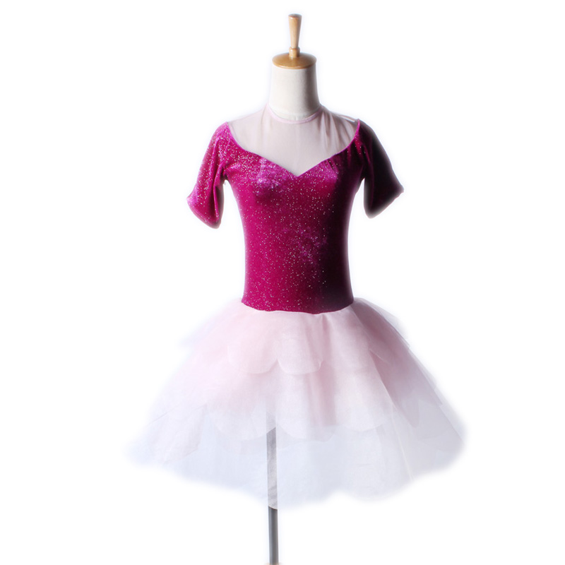 New Children Female Ballet Skirt Sexy Tight V Halter Skirt Dance Stage  Grading