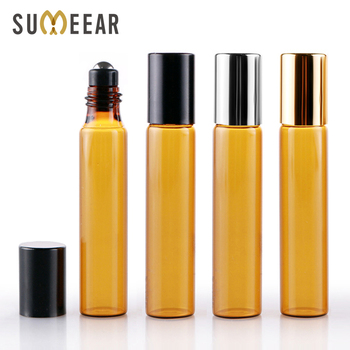 100 Pieces/Lot 10ML Essential Oil Bottles Roll On Amber Glass Bottle Refillable Perfume Bottle Travel Bottle Cosmetic Container 50pcs lot 10 ml roll on portable amber glass empty essential oil bottles refillable perfume roller bottle makeup container
