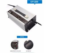 14.6V 50A 1200W lifepo4 battery charger for car forklift Aluminium Alloy with Fan 12v