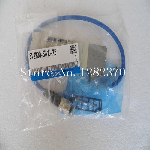 [SA] New Japan genuine original SMC solenoid valve SV2200-5W1U-X5 spot [sa] new japan genuine original smc solenoid valve vcl41 5dl 10 06 spot