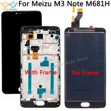 5,5 дюйма для Meizu M3 note M681H, ЖК дисплей + кодирующий преобразователь сенсорного экрана в сборе с рамкой, запасные части с бесплатной доставкой