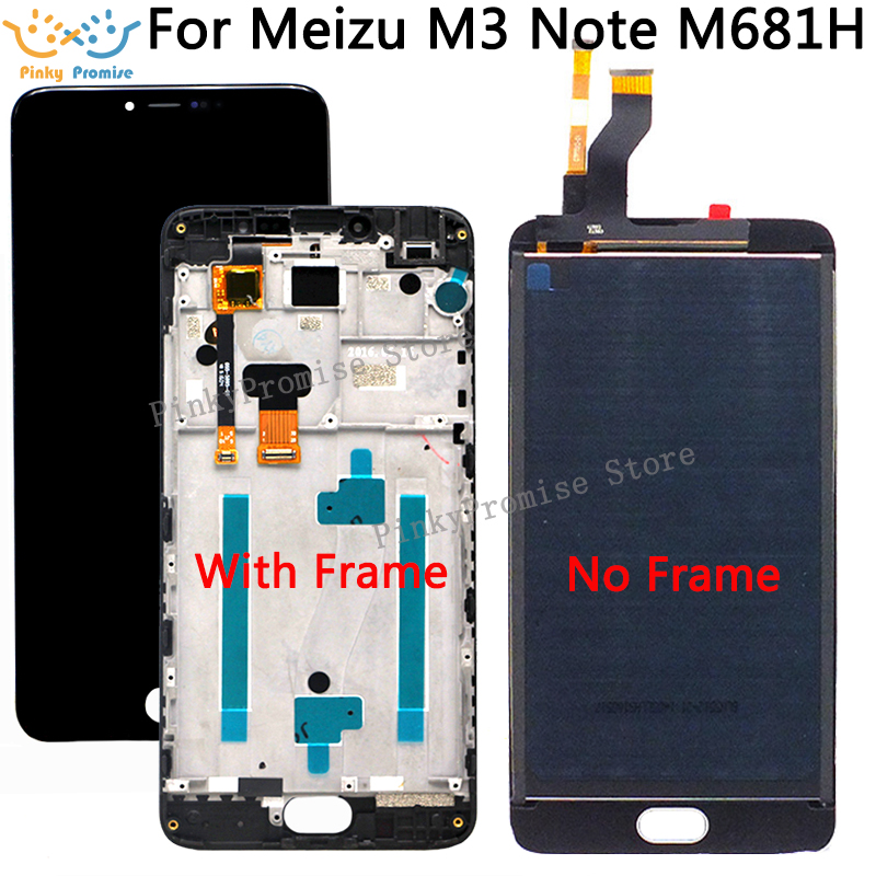 5.5 inch For Meizu M3 note M681H LCD Display+ Touch Screen Digitizer Assembly With Frame Replacement Parts with Free ShippingMobile Phone LCD Screens   -