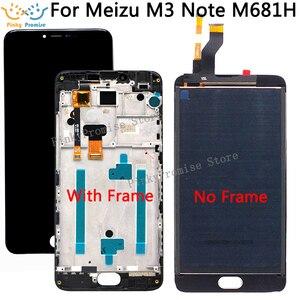 Image 1 - 5,5 zoll Für Meizu M3 hinweis M681H LCD Display + Touch Screen Digitizer Montage Mit Rahmen Ersatz Teile mit Freies verschiffen
